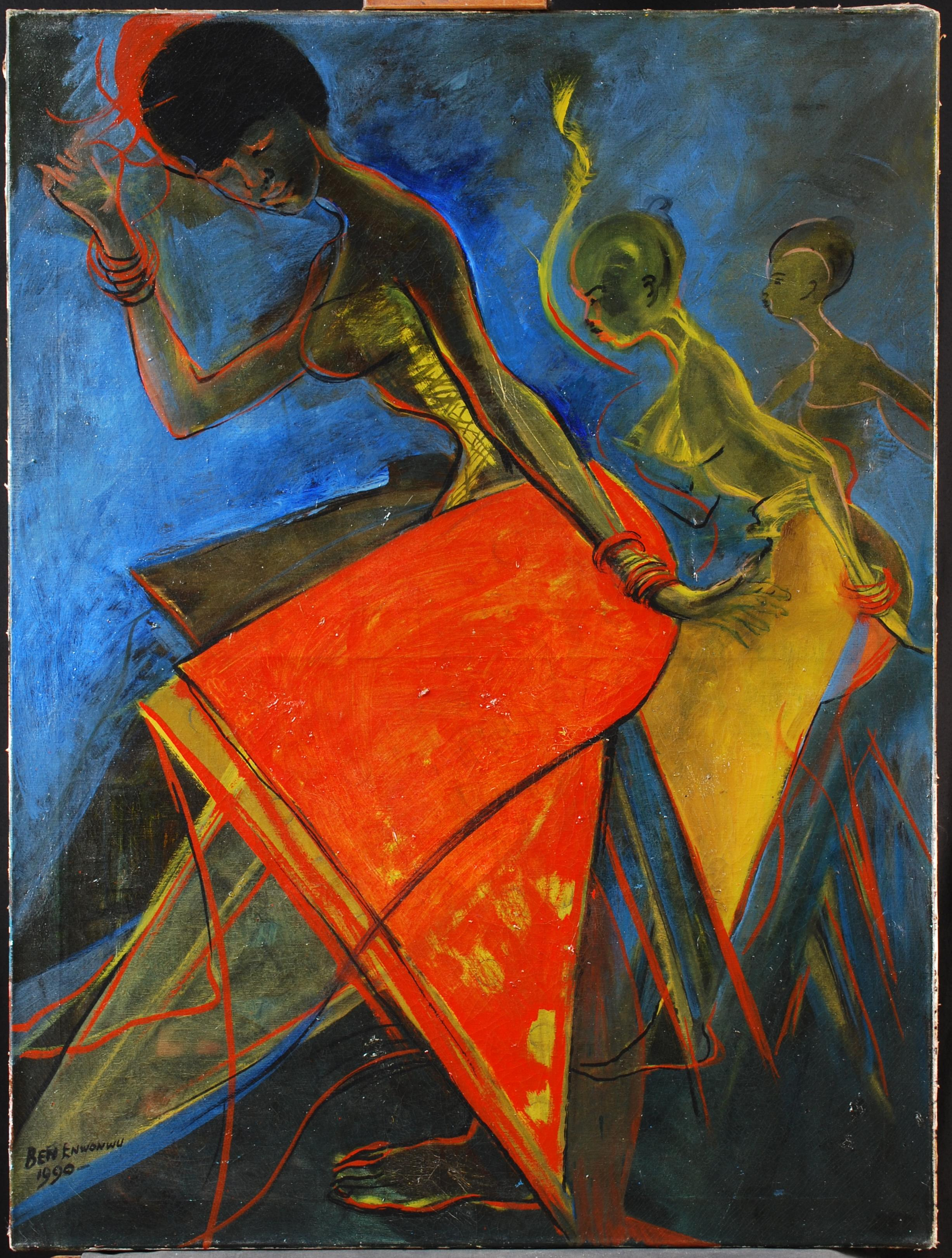 Image for May 9 Results Post_Ben Enwonwu_Obitun Dancers_1990